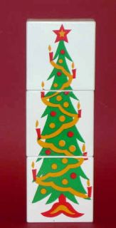 CHIMNEY Holiday Christmas Tree Magic Trick Kid Wood Blocks + Cloth