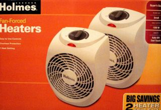 Holmes Fan Forced Heaters VALUE Pack 2 Heaters Compact Heater 1200