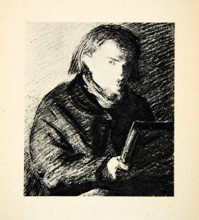 1927 Rotogravure Henri Fantin Latour Portrait Artist Self French