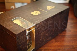 Adidas NCAA Notre Dame Football Riddell Helmet Jersey Gold Wooden Box