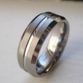 Mens Tungsten Carbide Comfort Fit Wedding Band Ring Size 7 14