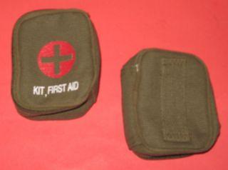First Aid Zipper Pouch w Belt Loop OD Cotton