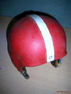 50s Rawlings Ph Leather Football Helmet Red White Oakland Rams