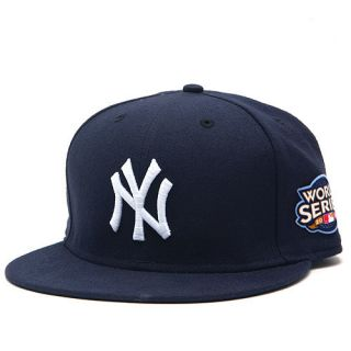 NY Yankees New Era 5950 Fitted Cap World Series Patch
