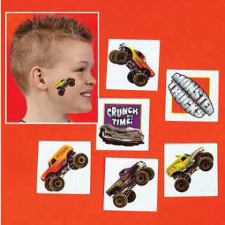36 Monster Truck Tattoos 3 Dozen Birthday Party Favors