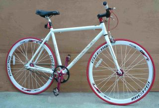 Fixie Fixed Gear Alloy Bicycle Bike 53cm RD 818 Men White