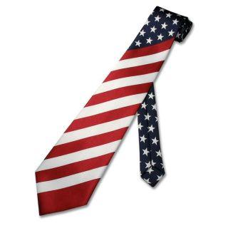 American Flag Mens Neck Tie USA Hand Made Necktie New