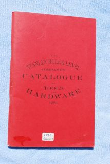 1870 STANLEY RULE LEVEL CO Tool Catalog Folding Rules Bailey Patent