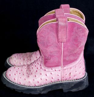 Ariat Fat Baby Pink Ostrich Cowgirl 4LR Western Womens Rodeo Boots 5 5
