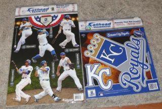 Sets New Kansas City Royals Fathead Team Set Teammates Vinyl Wall