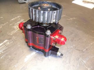 USED PETERSON SINGLE STAGE BEAR CLAW BELT DRIVE WET SUMP OIL PUMP SBC