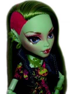 OOAK Custom Monster High Doll Repaint Venus Mcflytrap Goth