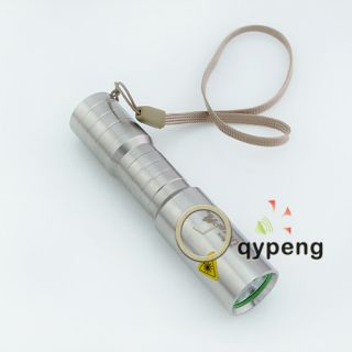 500 LM CREE Q5 LED 3 Modes Stainless Steel LED Flashlights