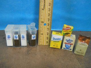 Barbie 1 6 Kitchen Food Cannisters Flour Sugar Coffee Tea Handmade
