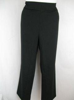 Susan Graver Size 1x Gramercy Stretch Straight Leg Pants in Black