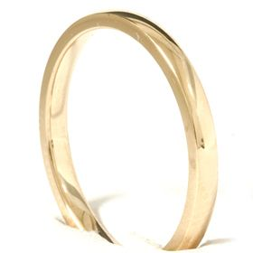 Yellow Gold Comfort Fit Plain Wedding Ring Band Free Sizing New
