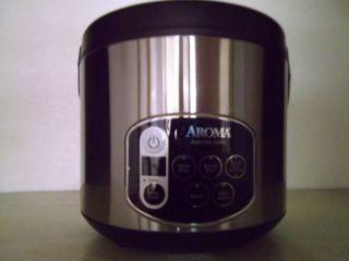 Aroma Rice Cooker Food Steamer 4 to 20 Cup Used Twice in Original Box