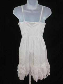 tracy feith for target white cotton tank dress sz 1