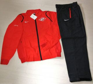 Nike Spartak Moscow Football Pres Tracksuit Suit BNWT Soccer Mens M L