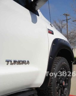 TOYOTA TUNDRA POCKET RIVET BOLT STYLE FENDER FLARES SMOOTH W/ RUBBER