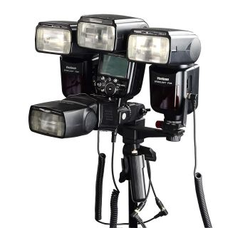 Dslrkit Dual Triple Flash Bracket Umbrella Holder Light Stand Shoe 1 4