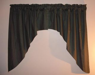 Window Valance Curtains Drapes Forest Green