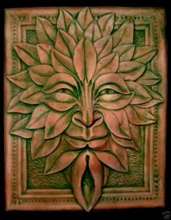 Leaf Forest God Green Man Home Wall Garden Decor