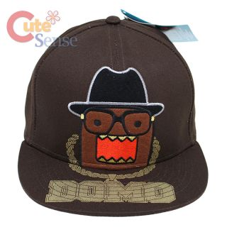 Domo Kun Flat Bill Cap Adjustable Hat Hip Hop Domo w Nerd Glasses