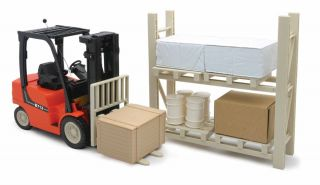 Forklift B713 with Rack Set RC B O Remote Control 27MHz Toy 1 14 Scale