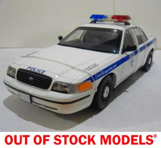 Autoart Montreal Police Car Ford Crown Victoria 1 18 Scale
