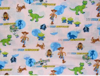 Disney Vtg Toy Story Flat Fitted Toddler Crib Sheet Set