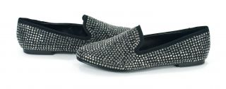 Madden Conncord Studded Loafers Flats Black Multi Shoes 8 New