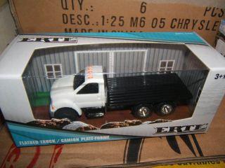 64 Ertl White Ford F650 Flatbed Truck NIB