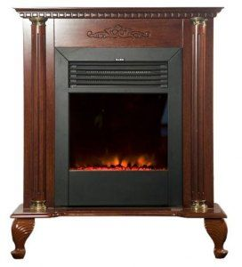 Classic Electric Fireplace Stove Heat Room Indoor Brown New