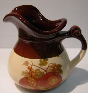 McCoy Classic Brown and Cream Art Pottery Large Pitcher