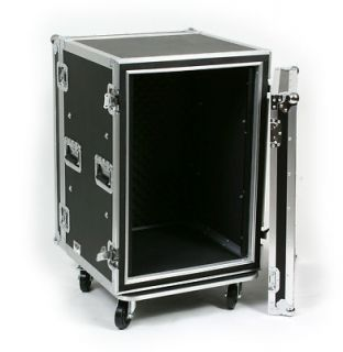 Space 16 U ATA Shock Effects Flight Rack Case 19 Wide 12 Deep