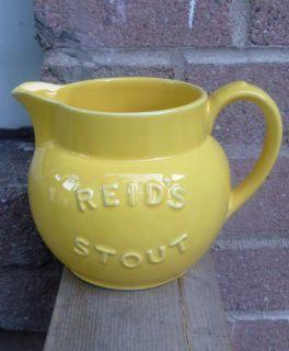 RARE Royal Doulton Lambeth Reids Stout Yellow Advertising Beer Ale