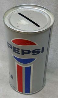 Vintage Pepsi Cola Canadian Advertising Soda Can Bank