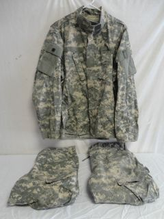US MILITARY UNIFORM ACU DIGITAL 1 SHIRT 2 PANTS SIZE LARGE REGULAR