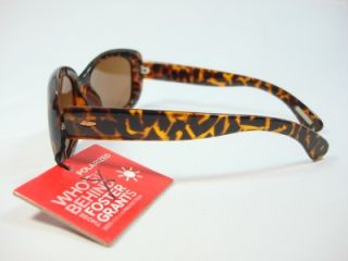 Foster Grant Polarized Brown Cheetah Sunglasses Election EG0810 New
