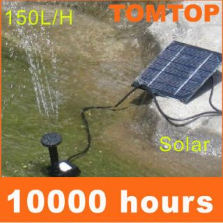 Solar Power Fountain Pool Water Pump Garden Watering