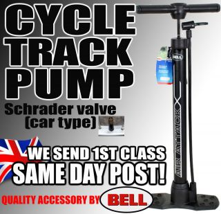 New Bell Track Floor Pump Cycle Bike Bicycle MTB