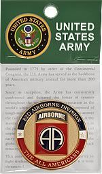 US Army Fort Bragg 82nd Airborne Div Challenge Coin