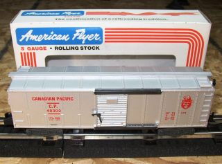 EXCELLENT AMERICAN FLYER TRAIN CANADIAN PACIFIC BOXCAR 6 48302 OR BEST