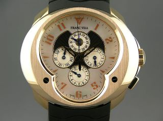 Franc Vila FVA 10 Perpetual Calendar GMT Solid 18K Rose Gold $84 600