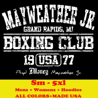 MAYWEATHER JR FLOYD MONEY BOXING CLUB auto mma gloves MENS T SHIRT