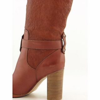 Fifi and Elvis Sublime Womens Size 9 Brown Leather Fashion   Knee High