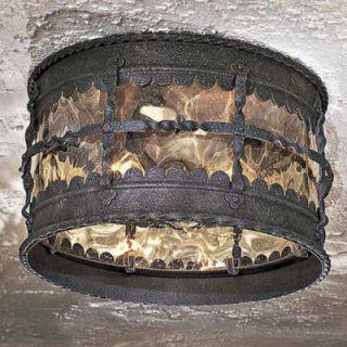 Minka Mallorca Spanish Iron Outdoor Flush Mount 8889 39