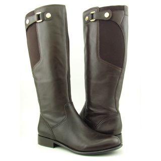Franco Sarto Ranger Womens SZ 7 5 Brown Choc Boots Knee Shoes
