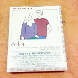 Polaroid 600 Film High Speed Color Land Film 600 Unopened Expired 1988
